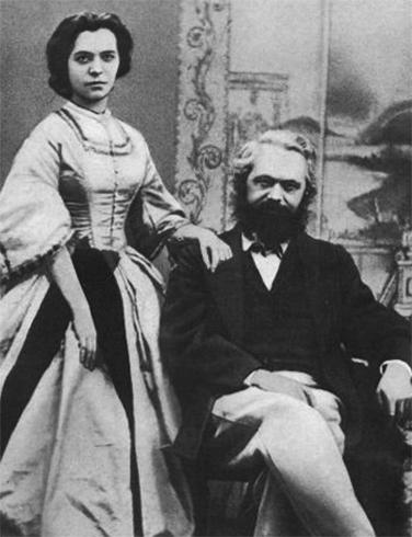 С женой Женни