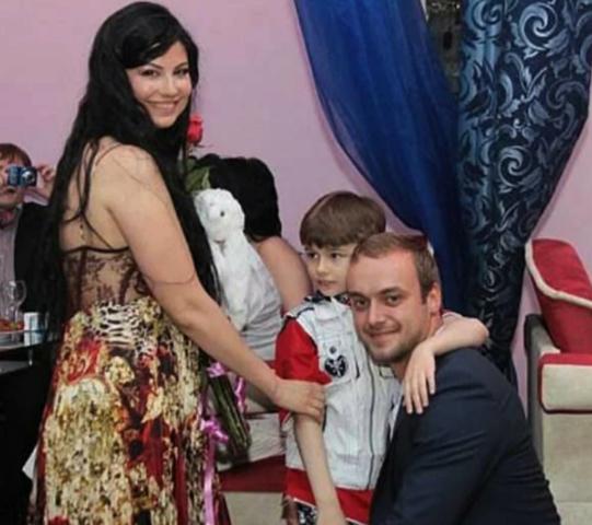 С Татьяной Солнцевой и сыном Ильей