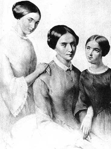 Жена Целина с дочерьми