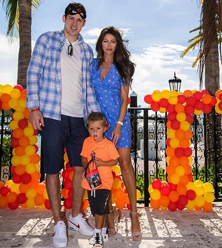 С женой Анной и сыном Никитой
