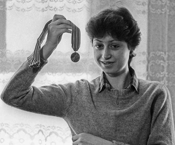 Елена Водорезова с медалью