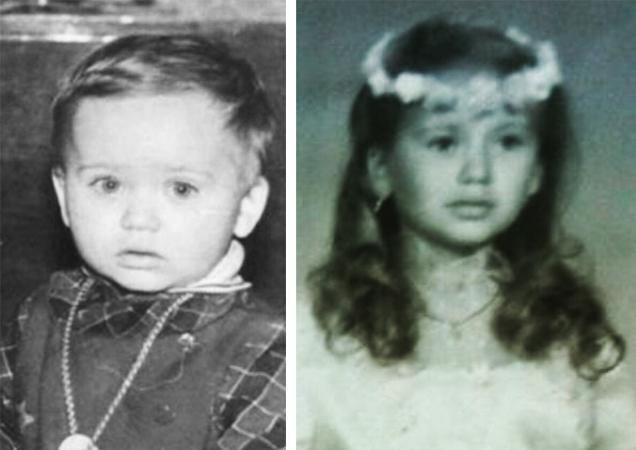 Анна Саливанчук в детстве