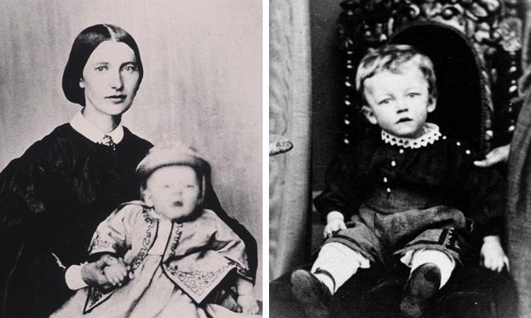 Эдвард Мунк в детстве с мамой
