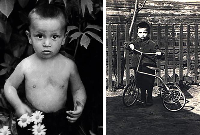 Александр Буйнов в детстве
