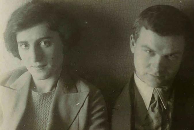 С женой Кларой в молодости