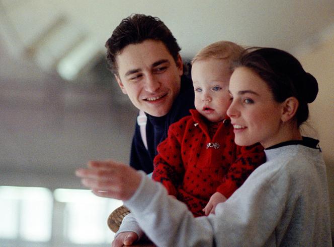С первым мужем Сергеем Гриньковым и дочерью Дарьей