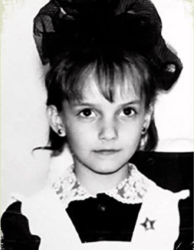 Юлия Зимина в детстве