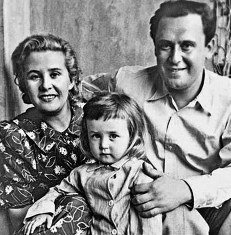 С женой Евгенией и сыном Высилием