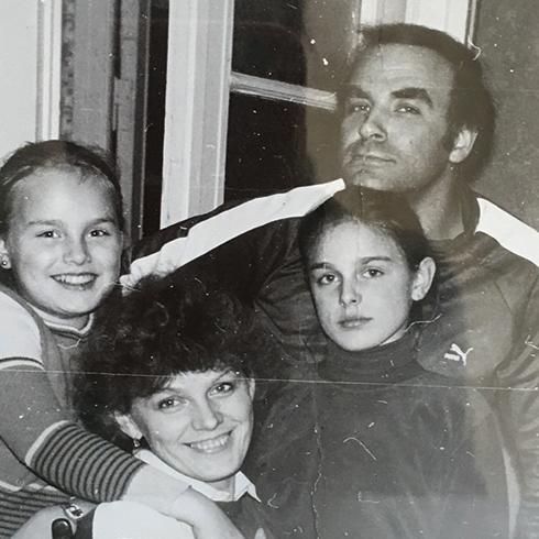 Екатерина Гордеева с семьей в детстве