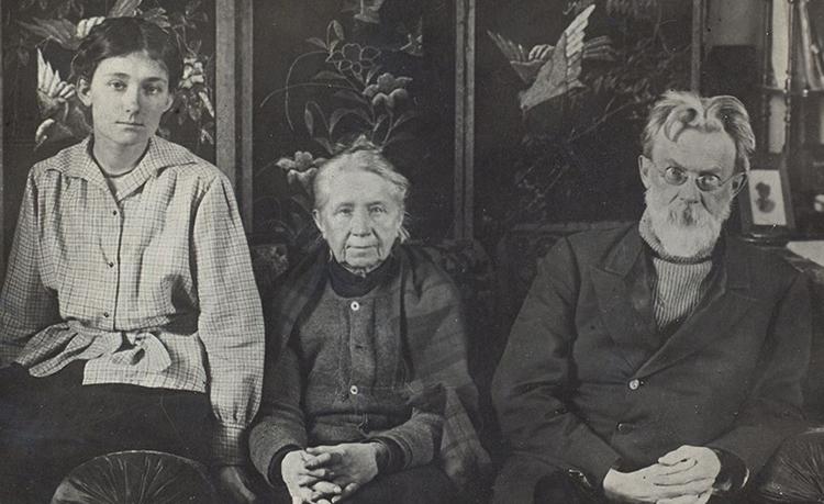 С женой и дочерью (1921)