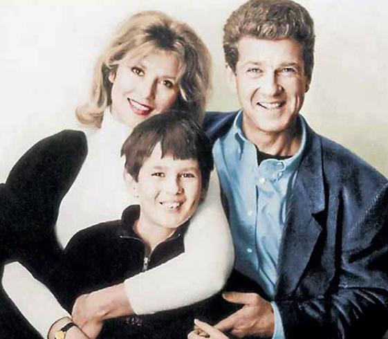 С первой женой Еленой и сыном Алексеем