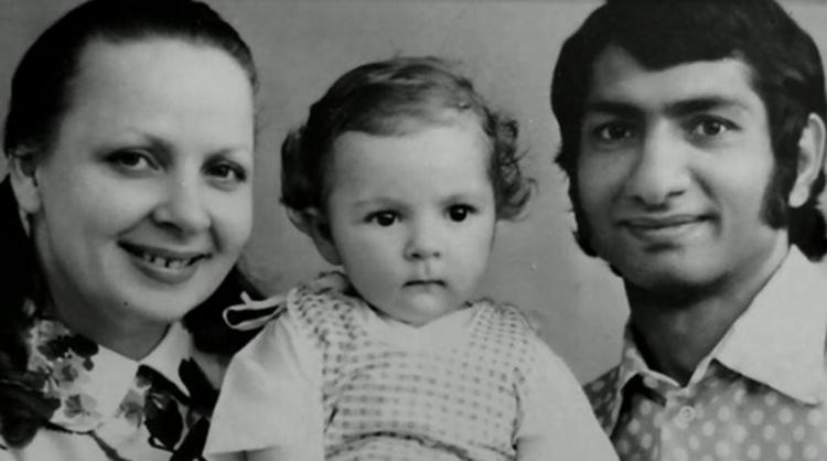 С Галиной Храмовой и дочерью Кнеей