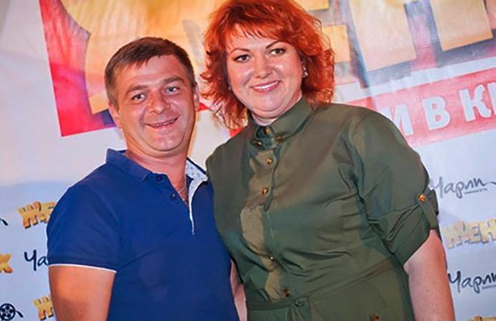 С мужем Виталием