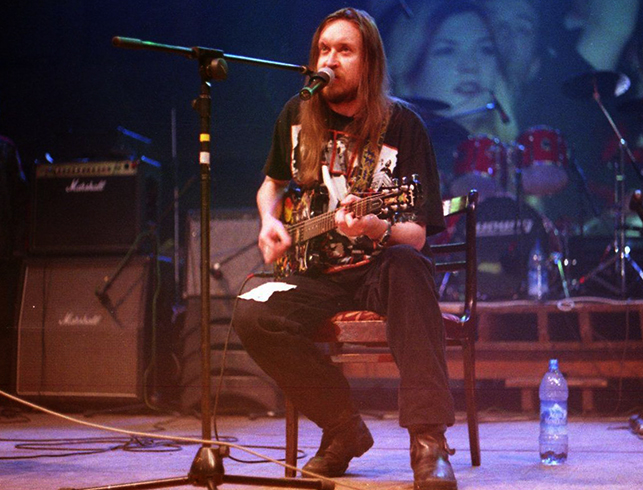Егор Летов на сцене