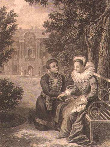Лжедмитрий I и Марина Мнишек. Картина Г. Ф. Галактионова