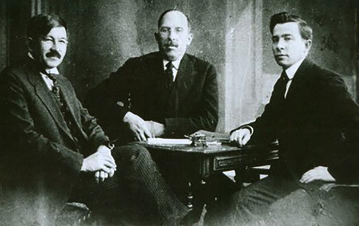 Лидеры национального движения татар — Г. Исхаки, С. Максуди, Ф. Тухтаров