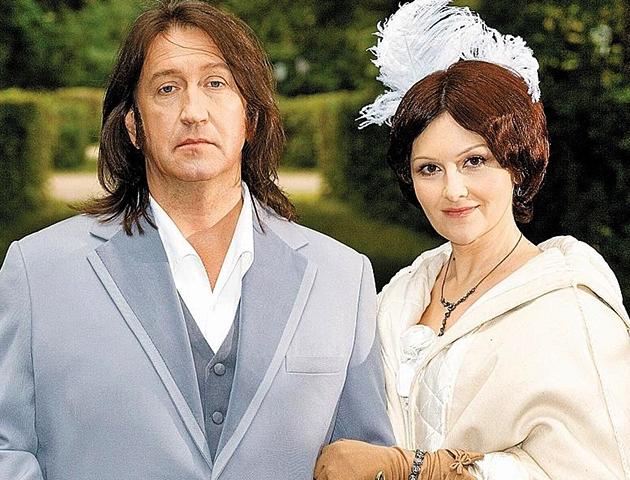 С женой Мариной