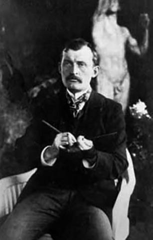 Мунк в 1902 году в саду своего покровителя доктора Макса Линде в Любеке