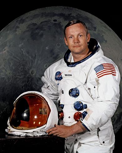Нил Армстронг перед полетом на луну