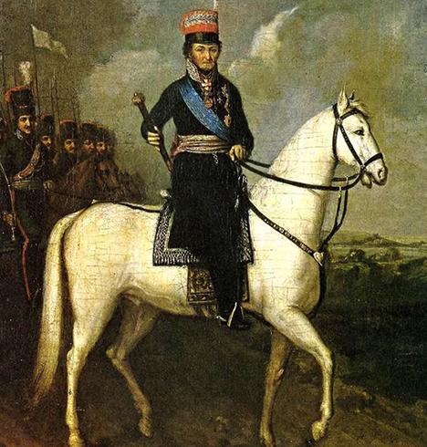 М.И. Платов на коне (картина 1910 г.)