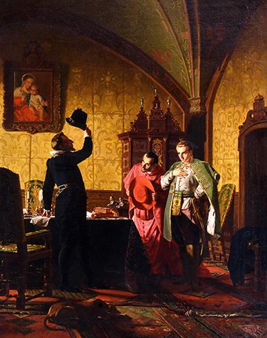 Присяга Лжедмитрия I польскому Сигизмунду III. Картина Н. Неврева