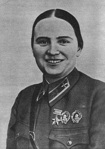 Марина Раскова в 1941 г.