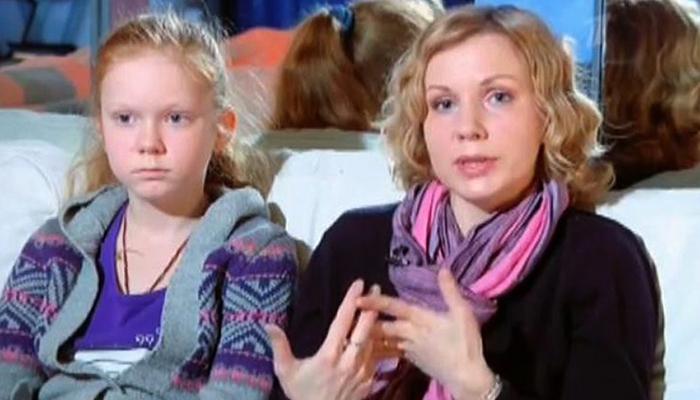 Вторая жена Ольга с дочерью Полиной