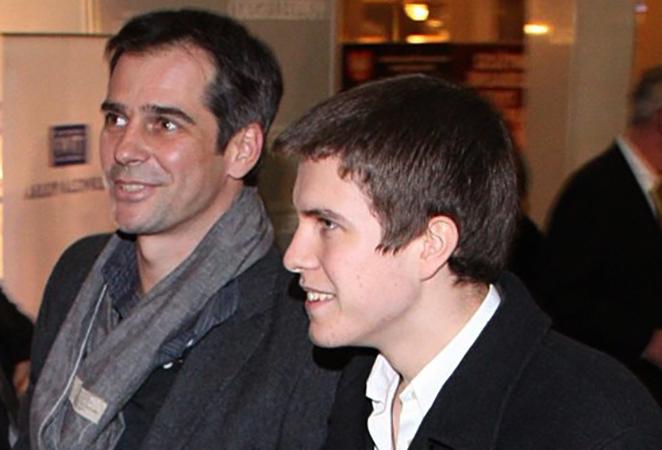 С сыном Павлом