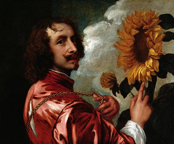 Автопортрет с подсолнухом (после 1633 г.)