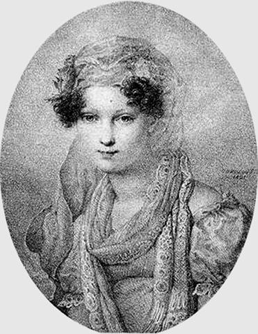 Мария Волконская в юности