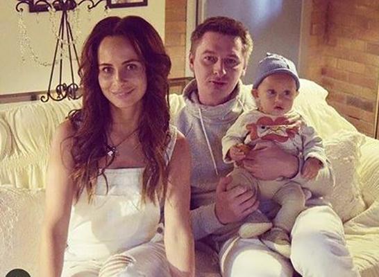 С Дмитрием Алмазовым и сыном