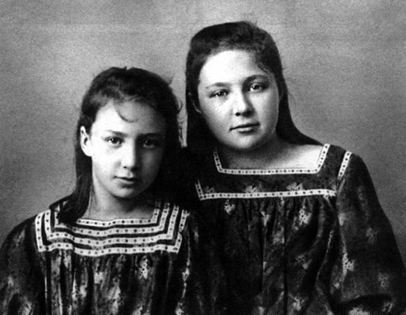 Анастасия (слева) и Марина Цветаевы