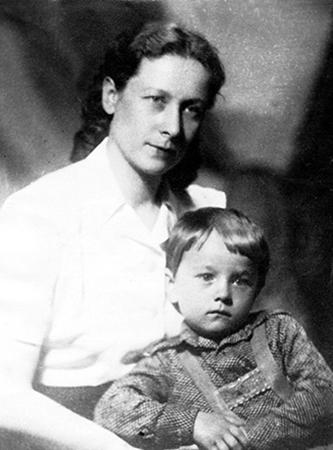 Жена Антонина и сын Игорь