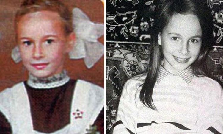 Александра Зверева в детстве