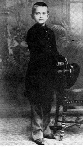 Лейба Бронштейн в детстве (1888)