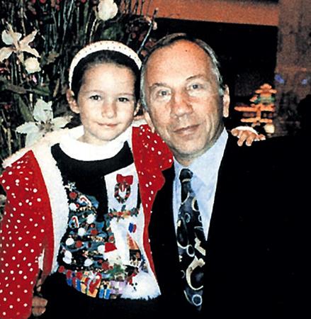 С дочерью Басей
