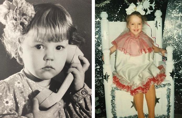 Юлианна Караулова в детстве