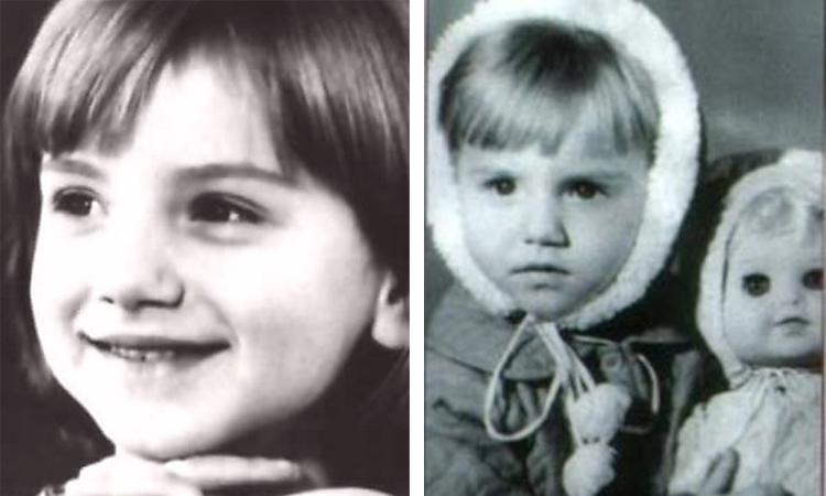 Ольга Будина в детстве