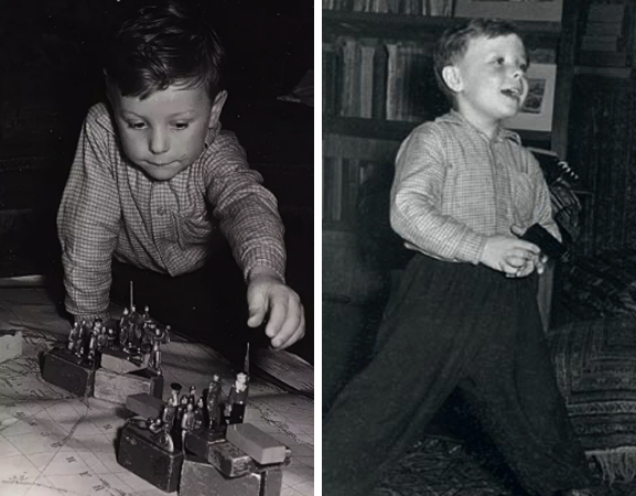 В детстве