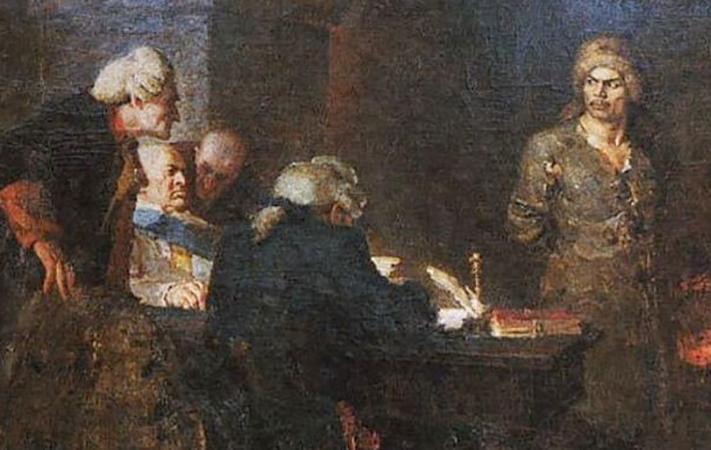 Допрос Салавата Юлаева (картина 1955 г.)
