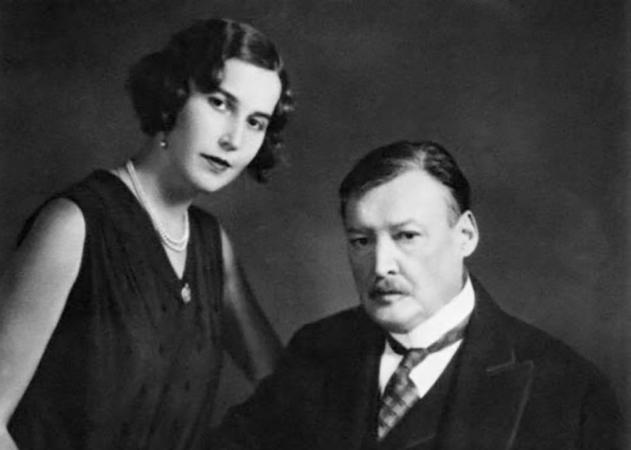 Александр Глазунов с дочерью Еленой. Ленинград. 1920-ые