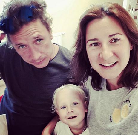 С Мариной Рожковой и сыном Мирославом