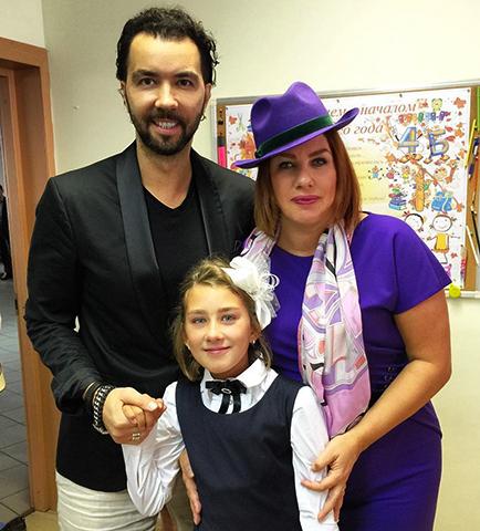 С Денисом Клявером и дочерью Эвелин