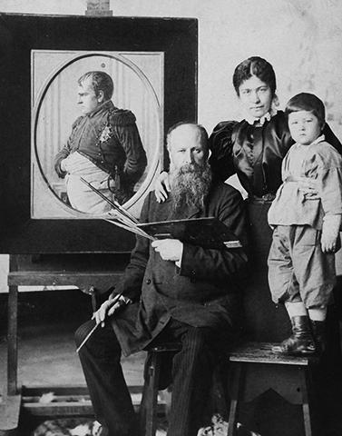 С женой Лидией и сыном Василием