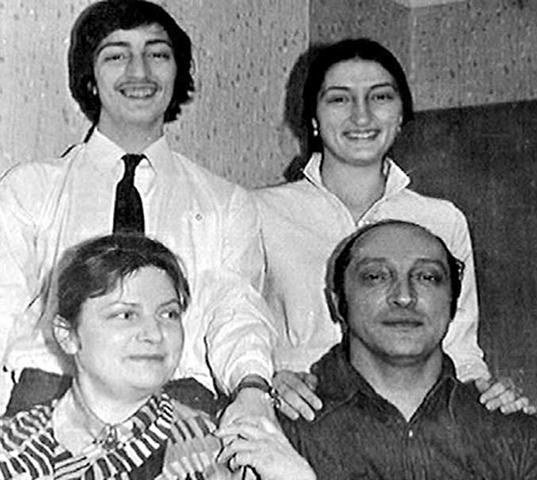 С первой женой Гретой и детьми
