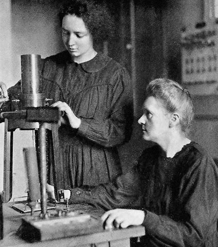 Мария Кюри с дочерью Ирен (1925)