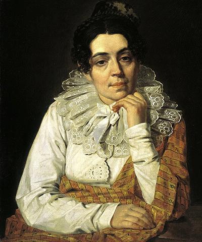 Портрет жены Марфы Афанасьевны Венециановой