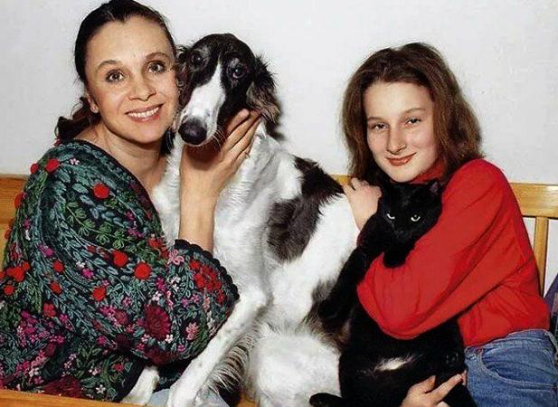 С дочерью Мариэттой