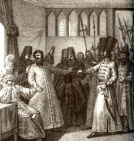 Пострижение В. Шуйского в монахи