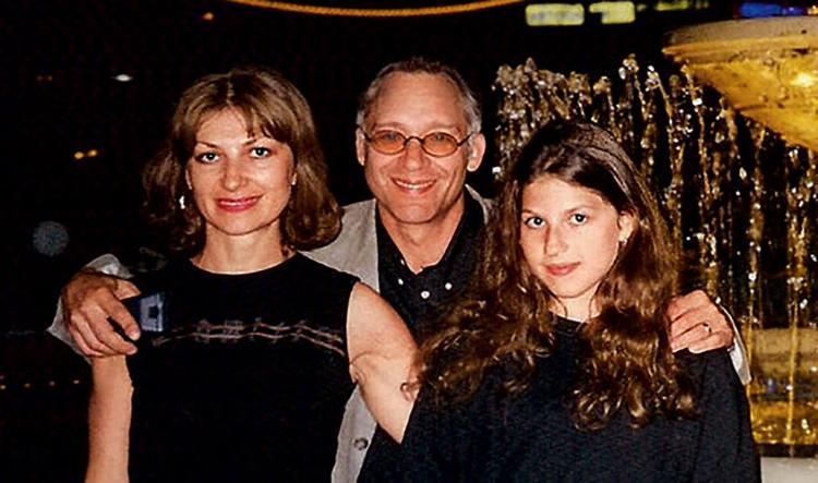 С Ниной Спада и дочерью Алиной